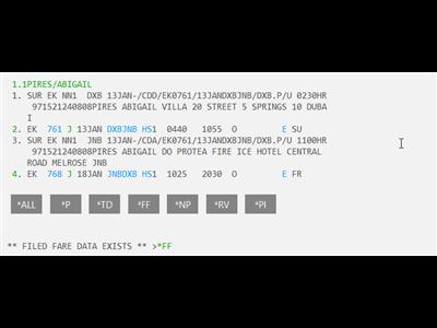 EK Limo Script Completed PNR