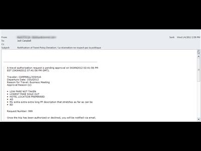 Pending Authorization Notification